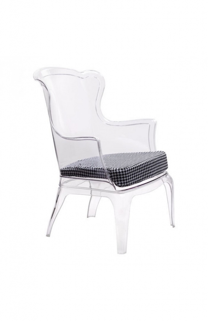Phantom Clear Accent Chair 14