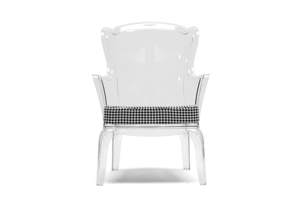Phantom Clear Accent Chair 3