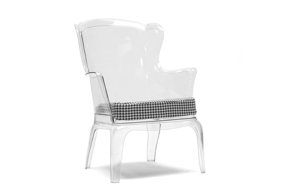 Phantom Clear Accent Chair 4