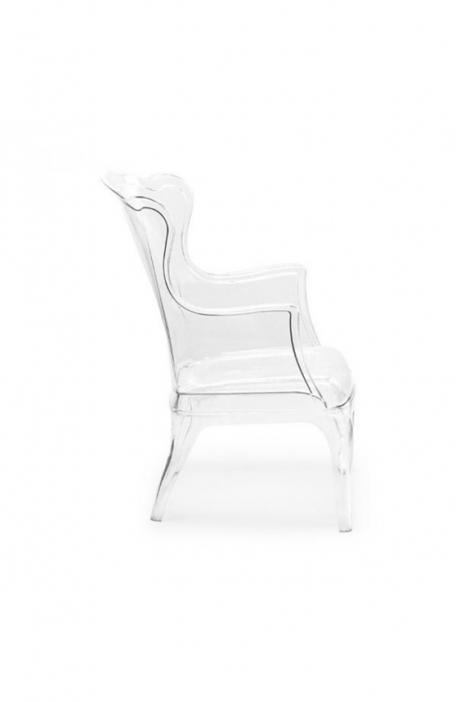 Phantom Clear Accent Chair 6