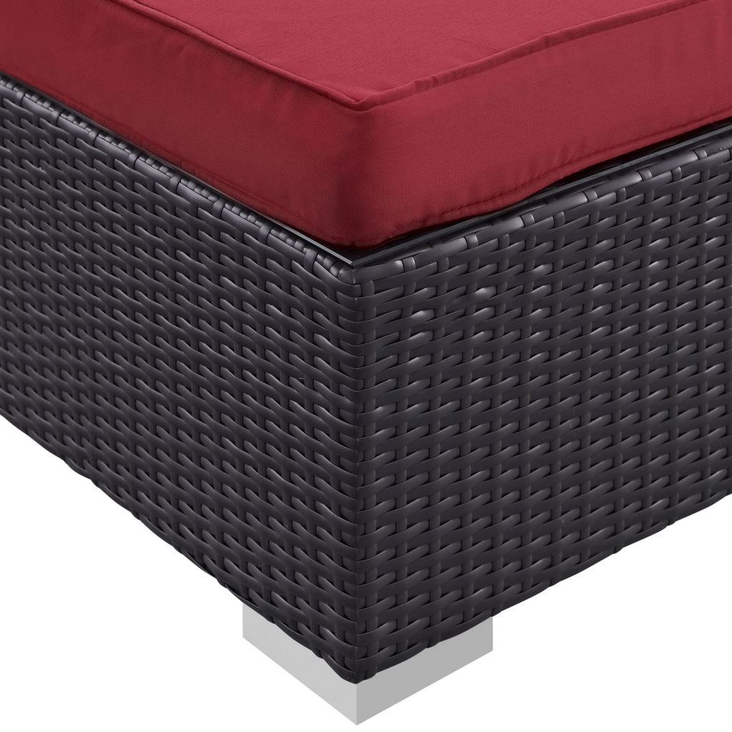 Red Moda Outdoor Ottoman