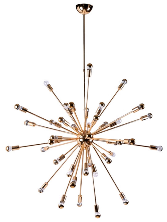 Sputnik Gold Chandelier Modern Furniture Brickell