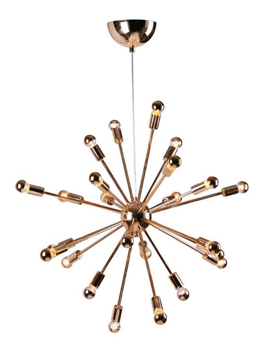 Sputnik Gold Chandelier Medium