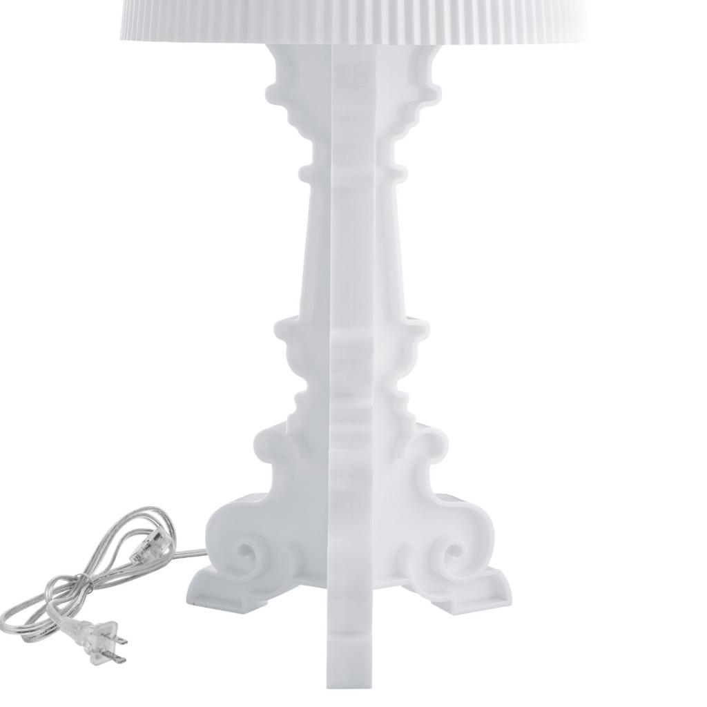White Acrylic Table Lamp Medium 2