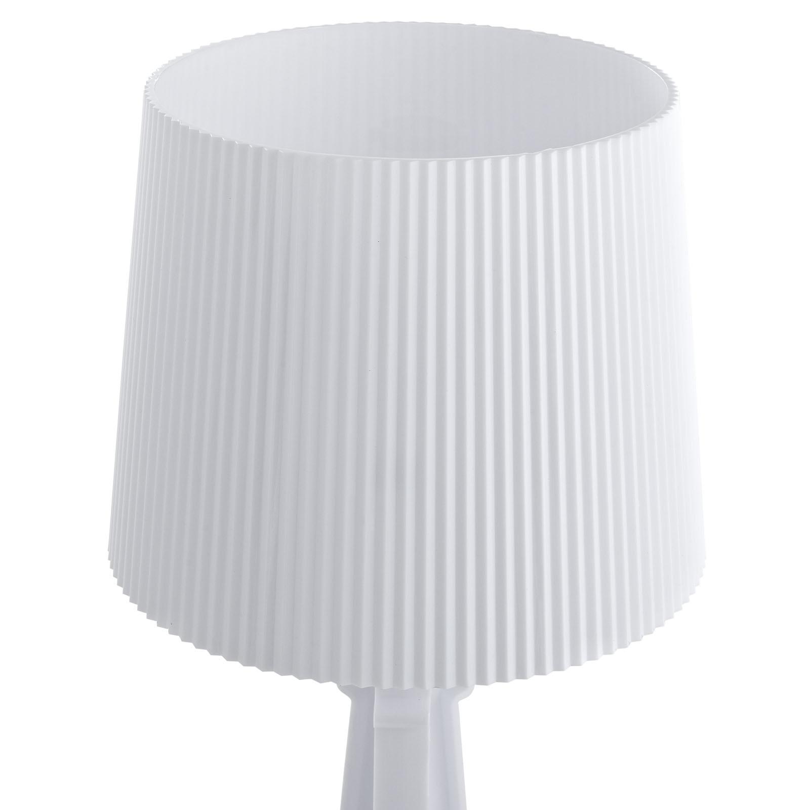 White Acrylic Table Lamp Medium 3