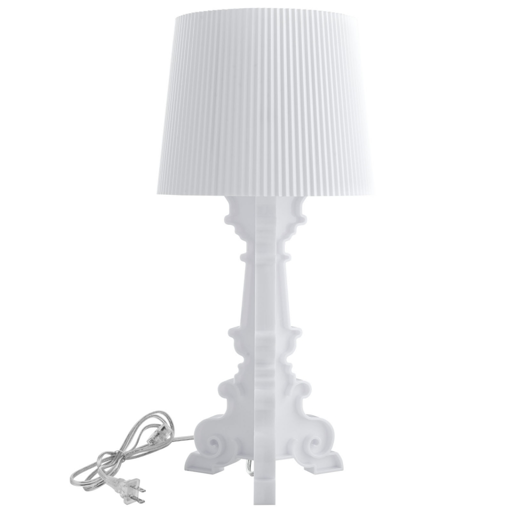 White Acrylic Table Lamp Medium