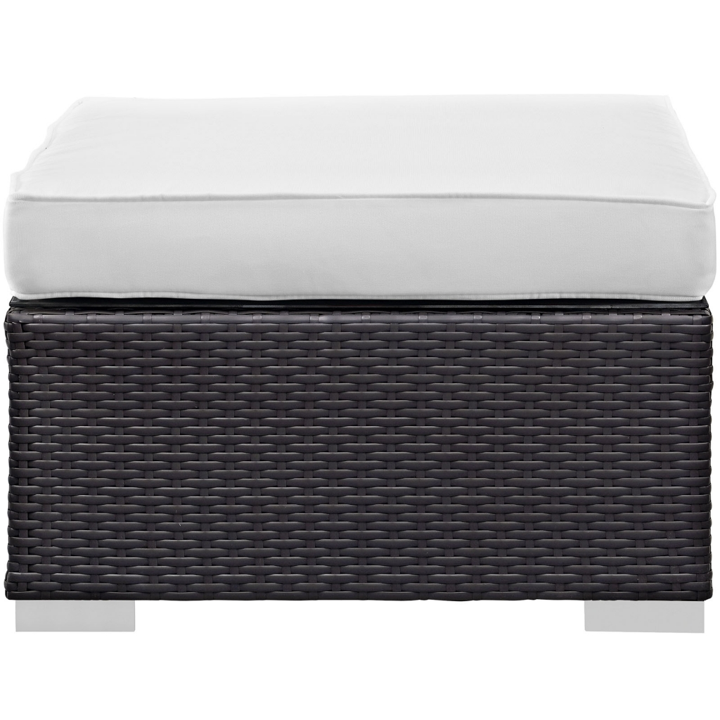 White Moda Outdoor Ottoman 3