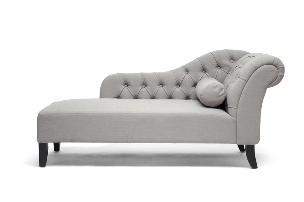 Manhatten Gray Chaise Lounge Chair