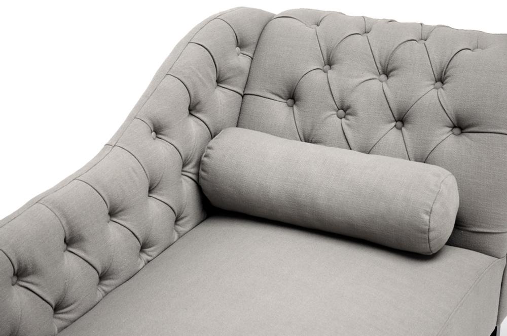 manhatten gray modern chaise lounge chair