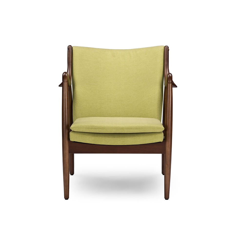 Finian Green Accent Armchair