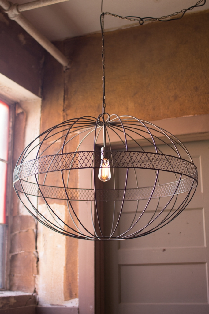 Industrial Black Iron Metal Globe Chandelier 2
