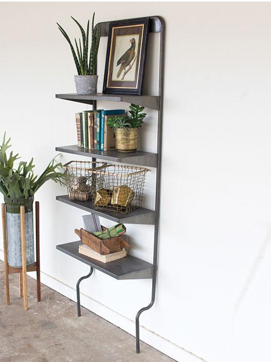 Iron Leaning Wall Shelf