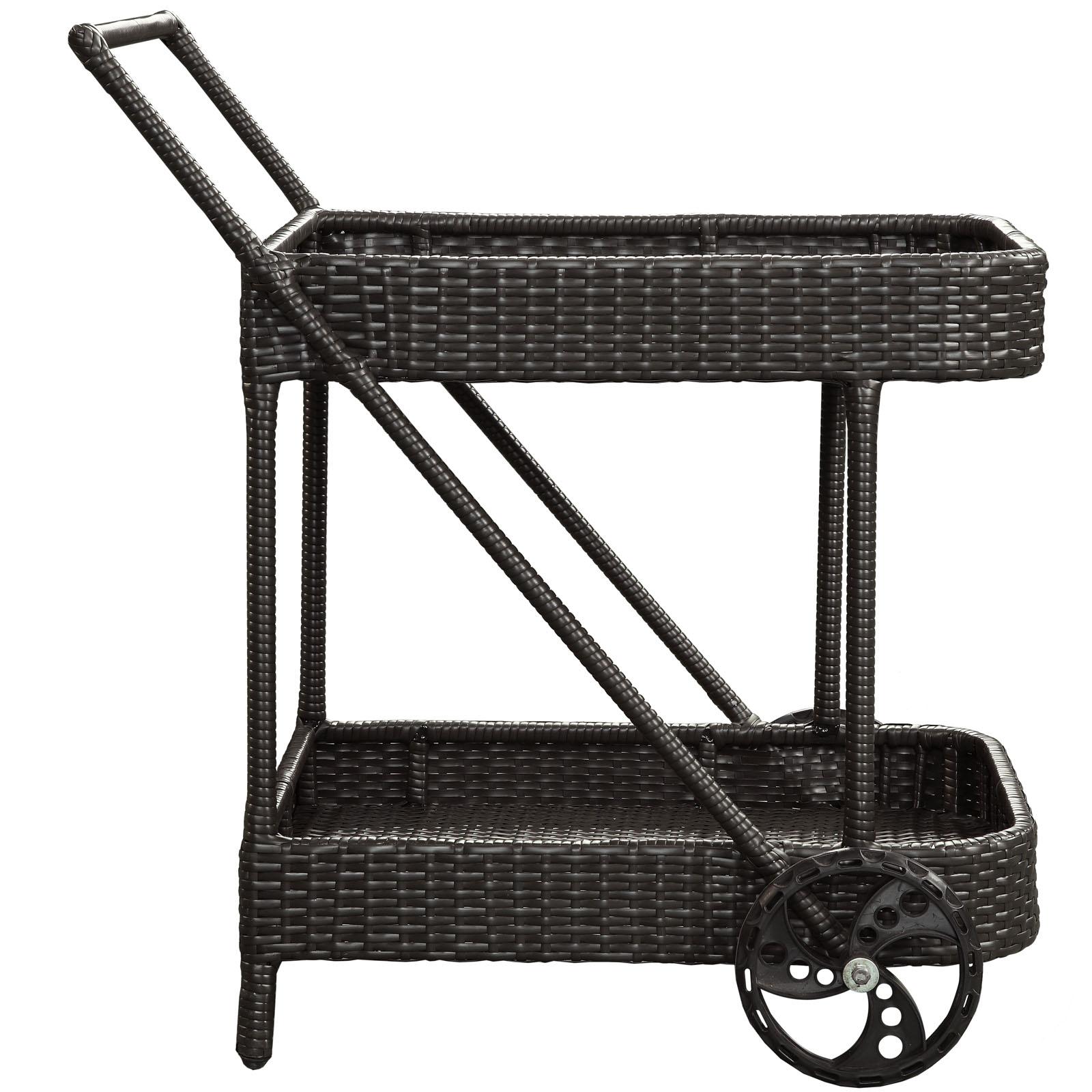 Rattan Rolling Cart 2