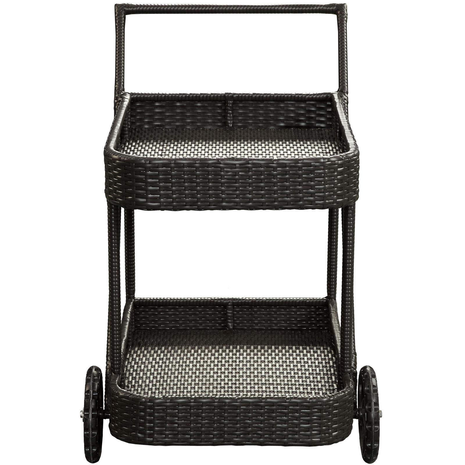 Rattan Rolling Cart 3