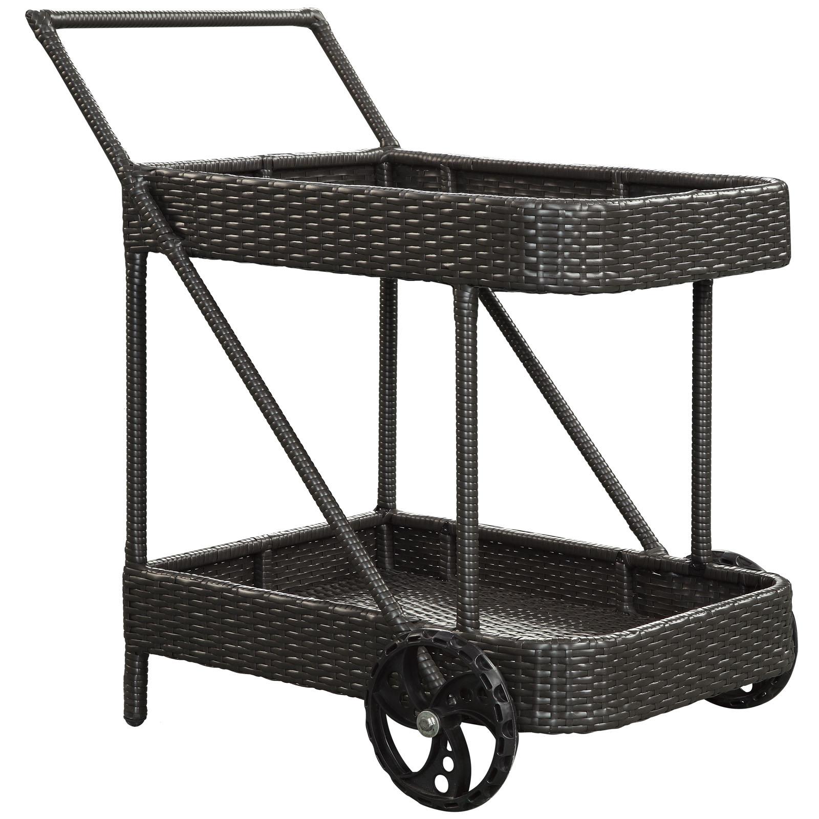 Rattan Rolling Cart