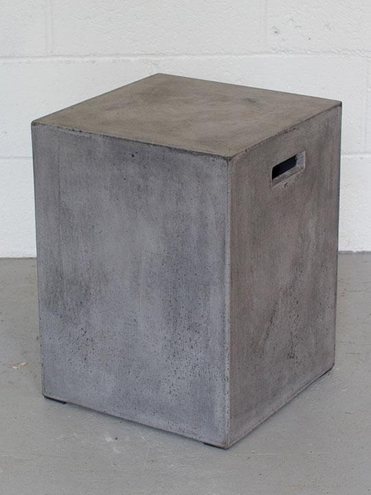 Square Concrete Stool