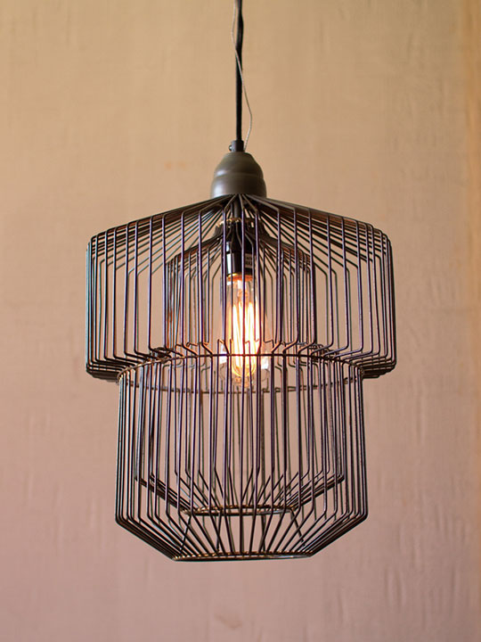 Black Wire Pendant Light
