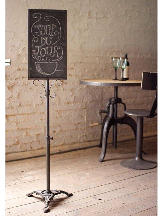 Well-liked Black Metal Chalkboard Stand | Modern Furniture • Brickell Collection NT95