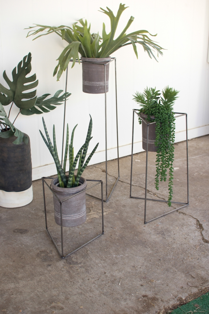Triangle Modern Planter Stand Set Modern Furniture