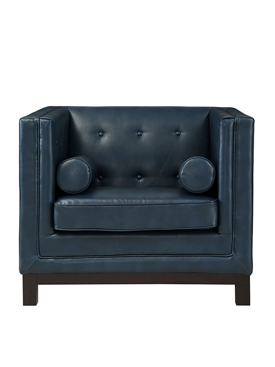 Blue sofa armchair