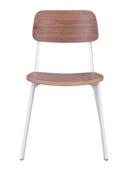 Modern white wood chair