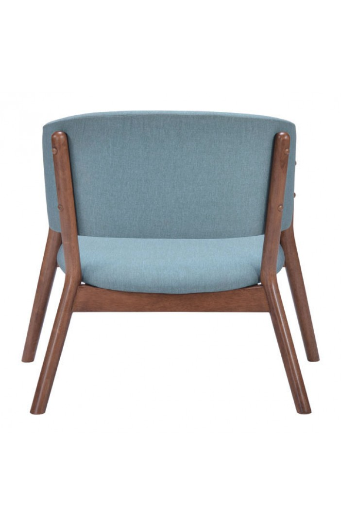 Mariner Blue Wood Accent Chair Modern Furniture