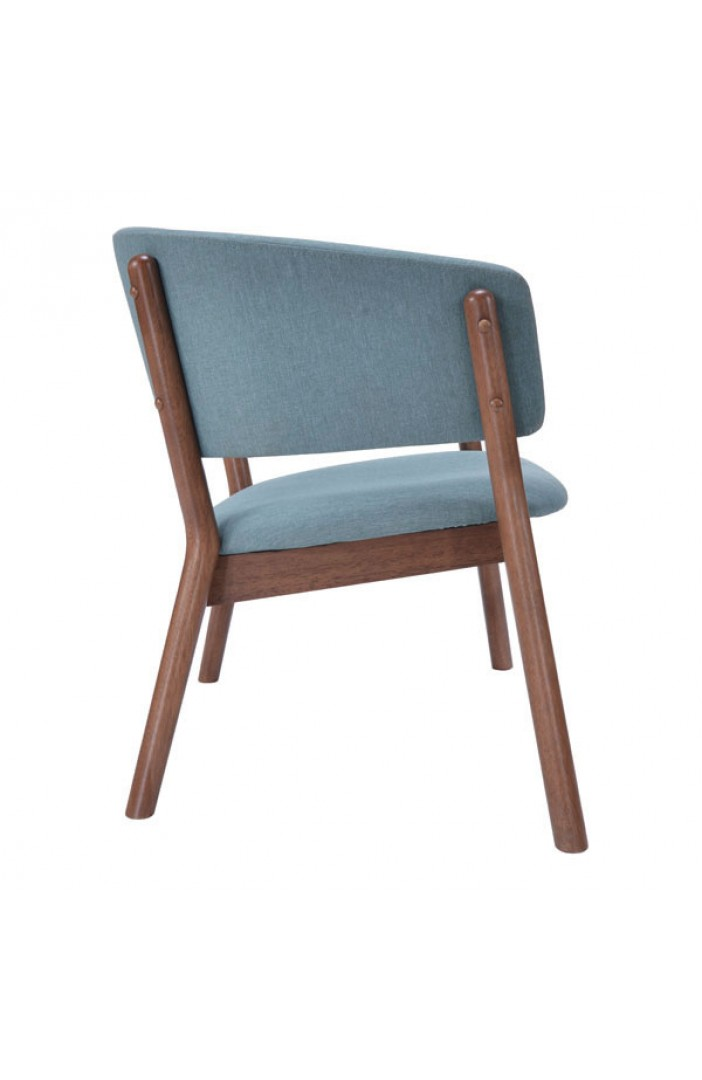 Mariner Blue Wood Accent Chair 4