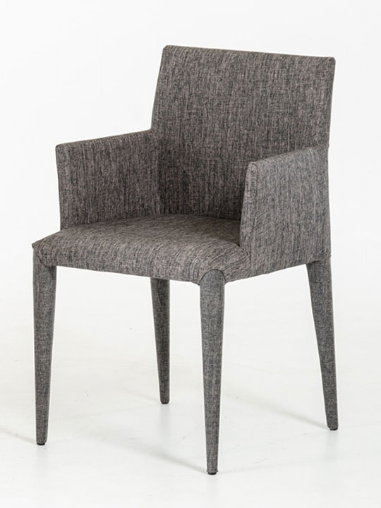 gray wool armchair