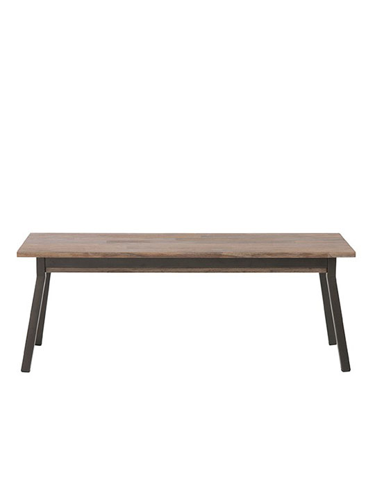 modern wood bench