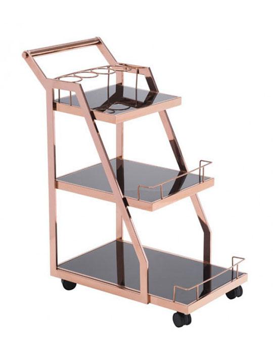 Prestige Metallic Bar Cart