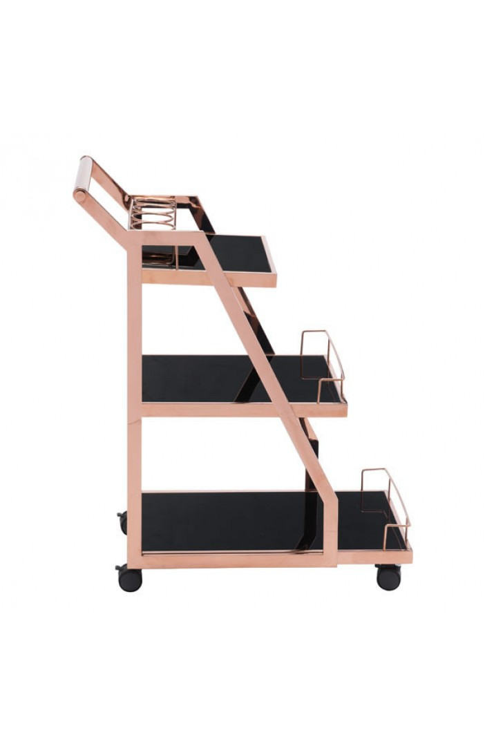 Prestige Rose Gold Metallic Bar Cart 2
