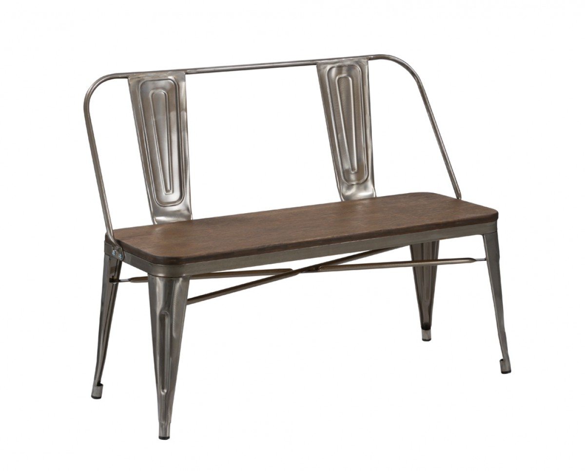 Silver Wood Tonic Bench