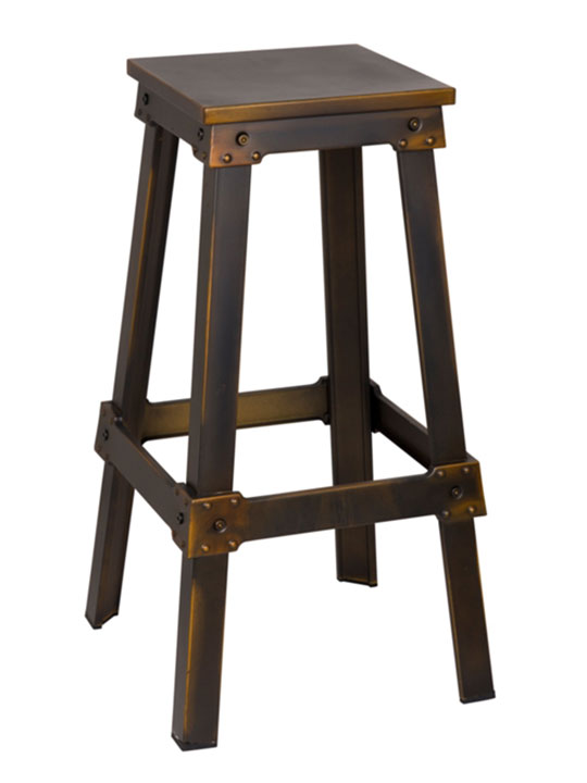 copper square barstool