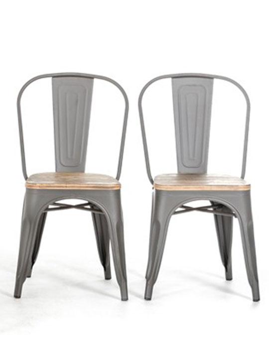 Tonic wood grain chair set