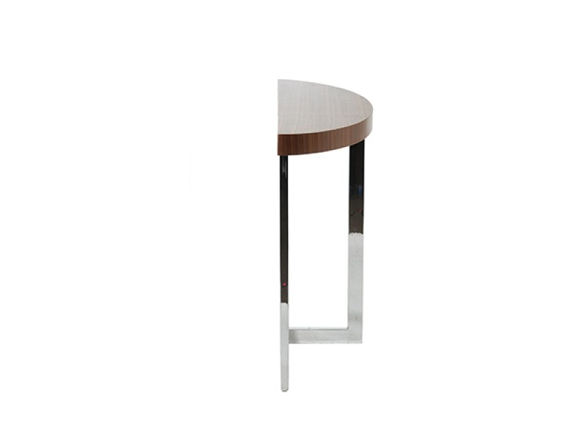 bisou console table walnut wood
