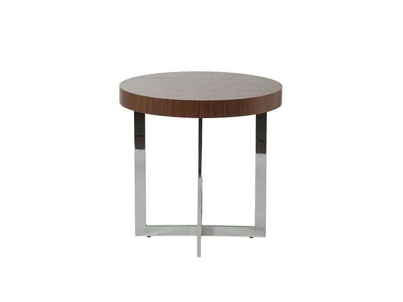 bisou side table walnut wood