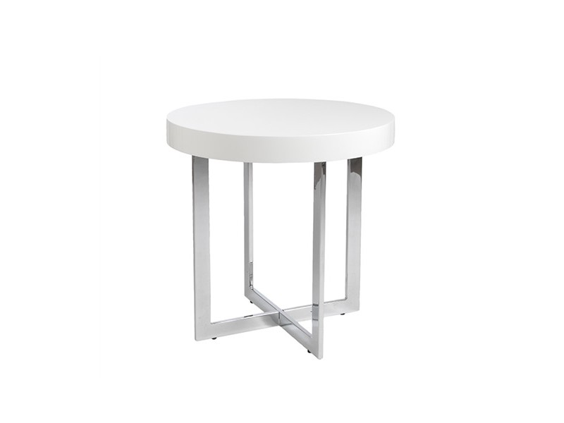 bisou side table white
