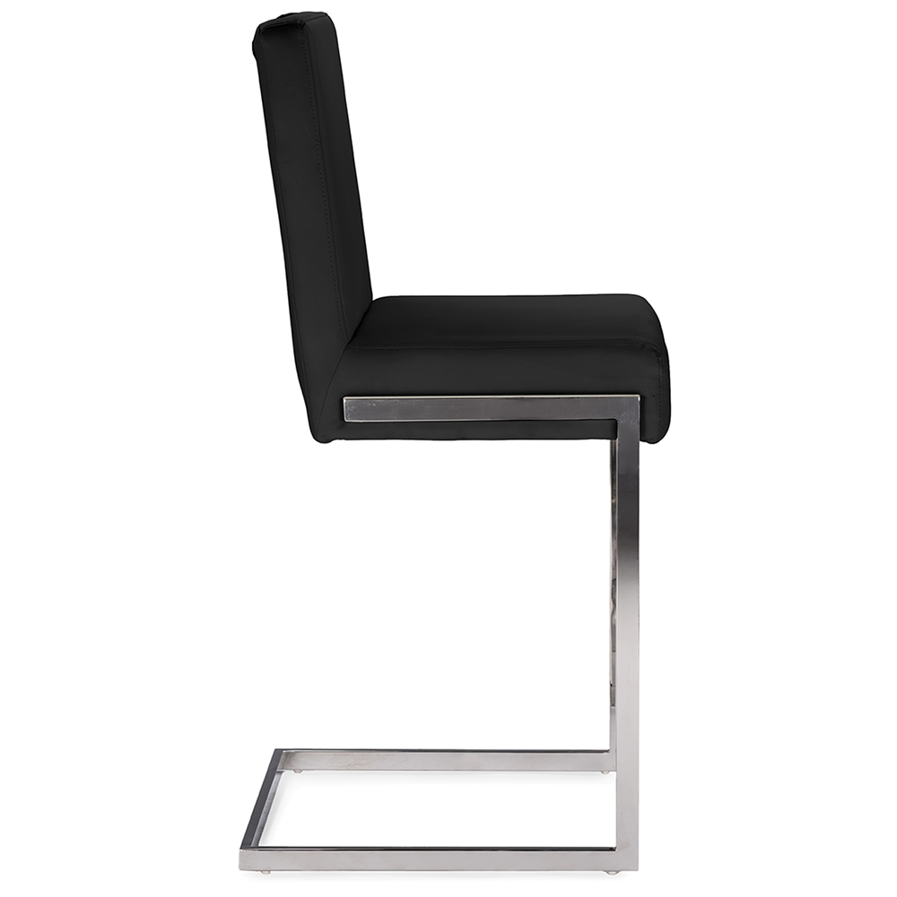 black chrome barstool eclipse 2