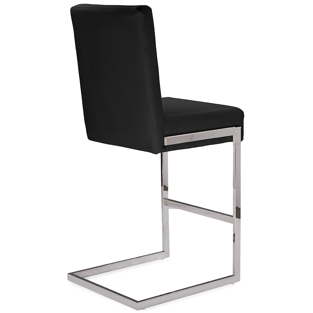 black chrome barstool eclipse 3