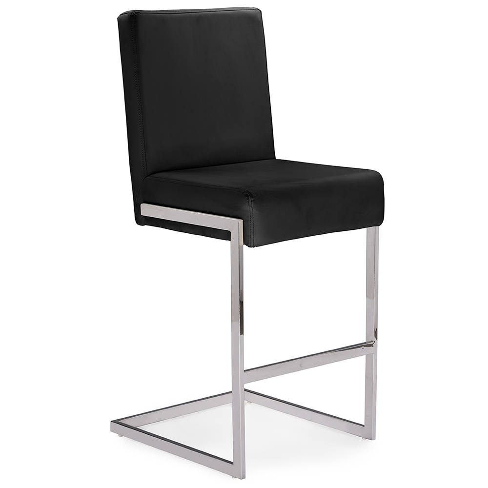 black chrome barstool eclipse