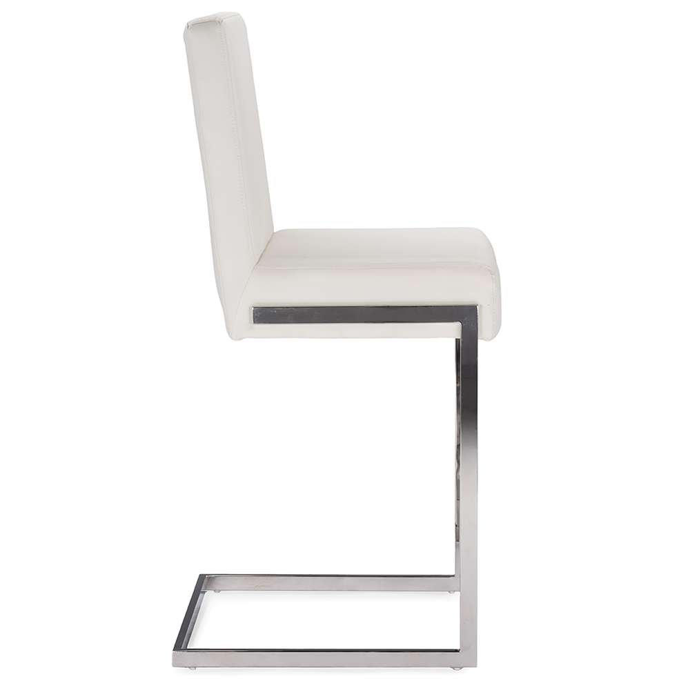 eclipse white chrome barstool 3