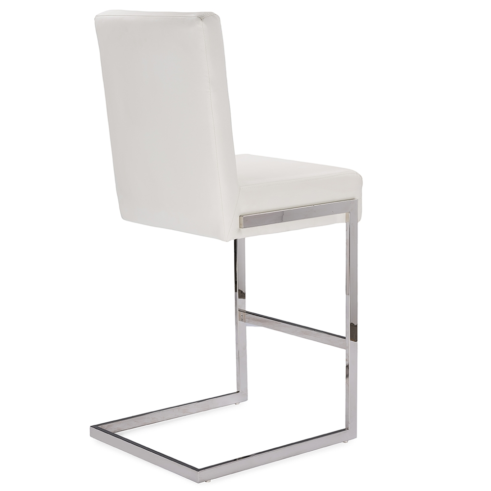eclipse white chrome barstool 4