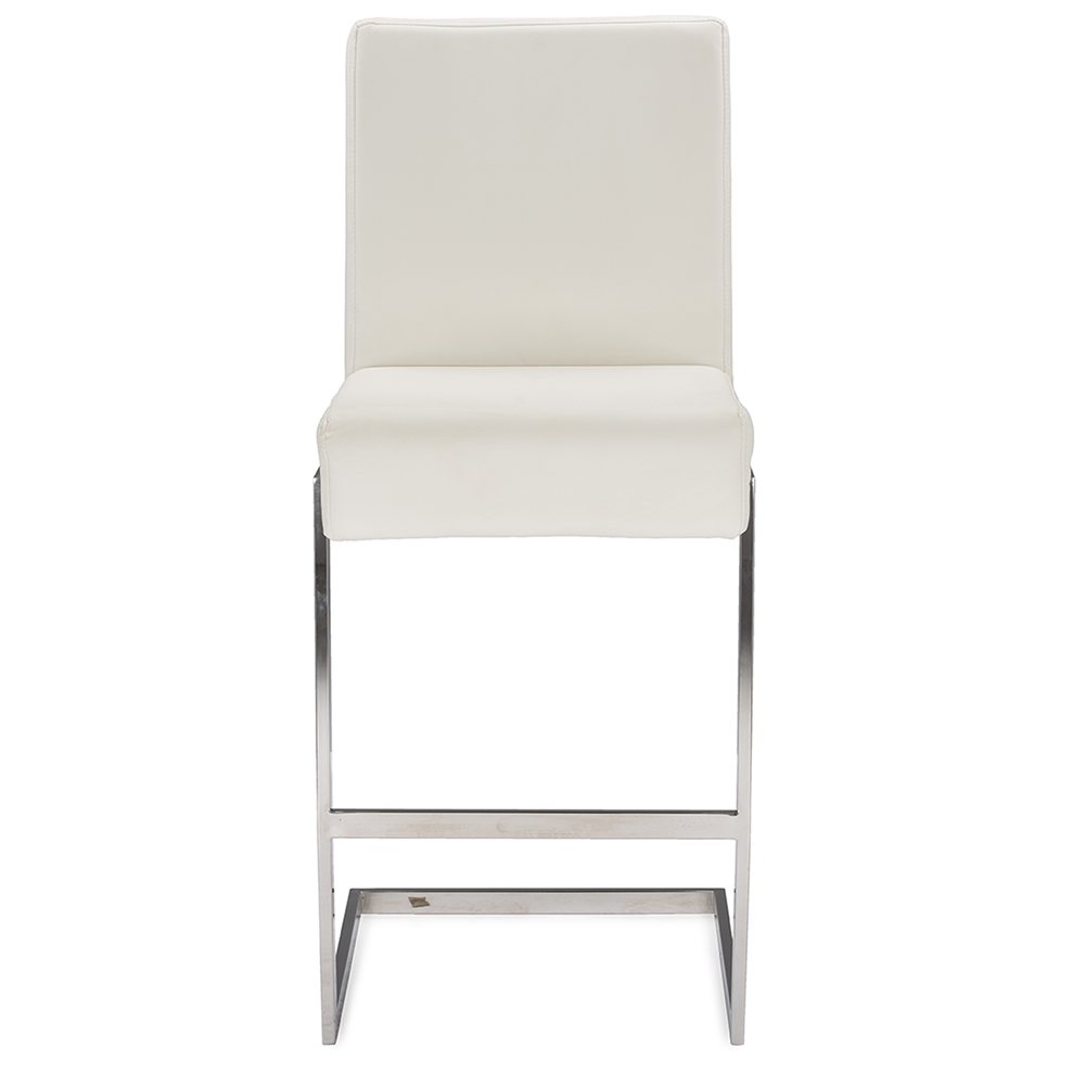 eclipse white chrome barstool