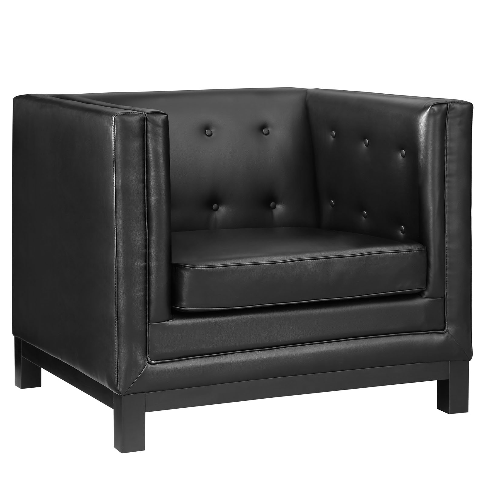 empire sofa armchair black 2