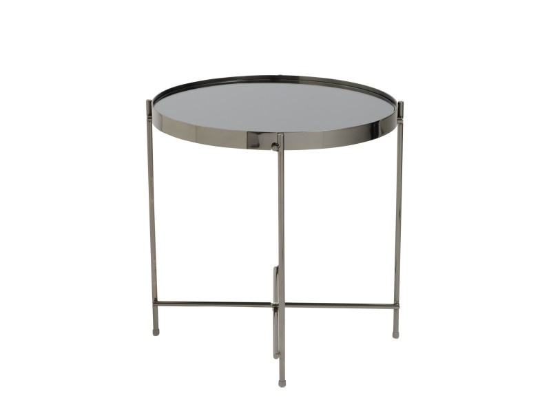 french black gunmetal metallic side table 2