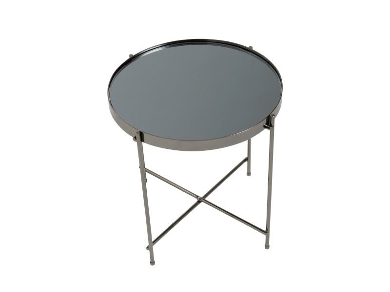 french black gunmetal metallic side table