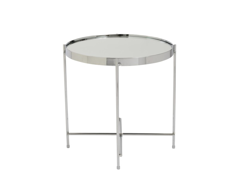 french chrome metallic side table 3