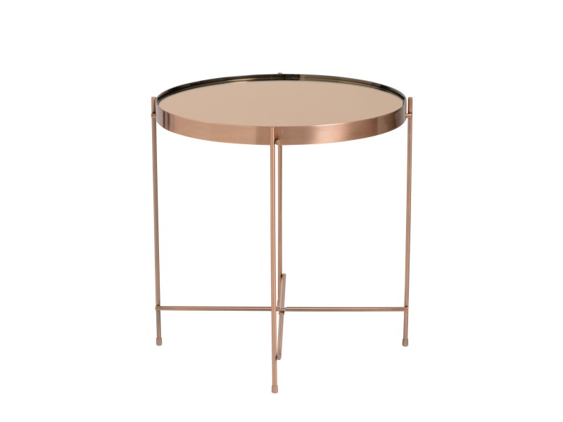 french copper metallic side table 1