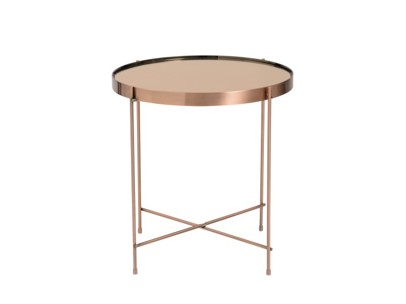 french copper metallic side table 5