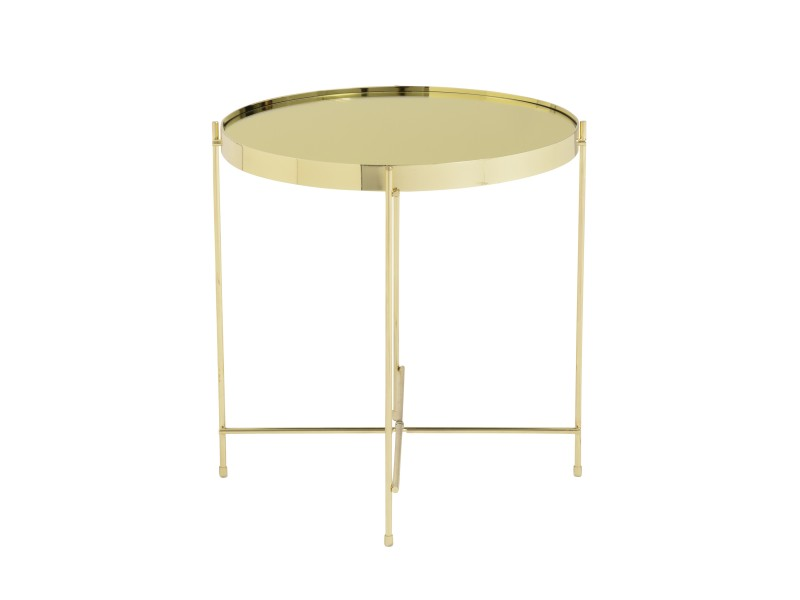 french gold metallic side table 4